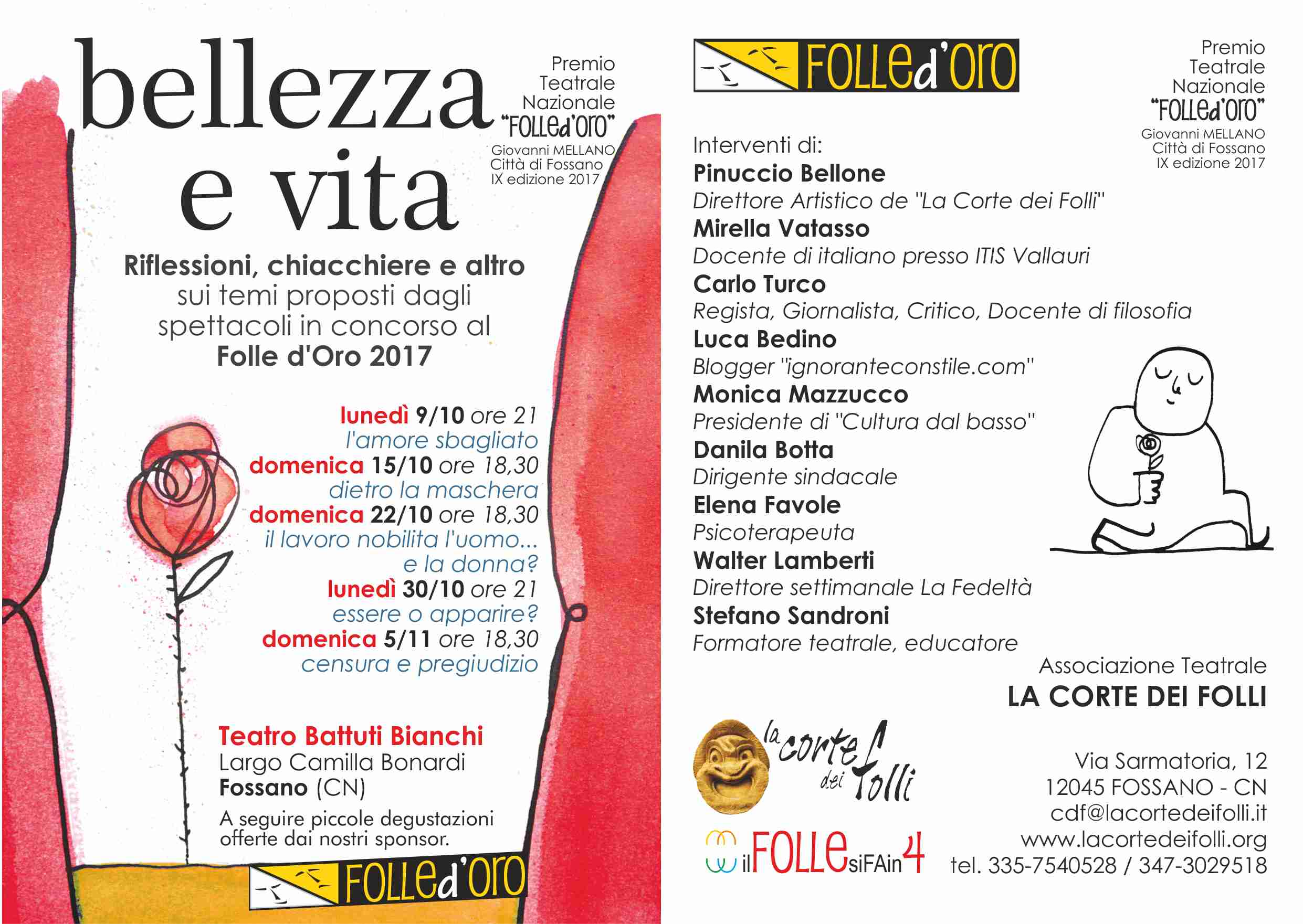 bellezza e vita 2017 flyer A5